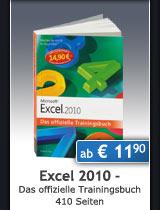 Jubil�umsausgabe: Excel 2010 - Das offizielle Trainingsbuch, 410 Seiten, ab € 11,90