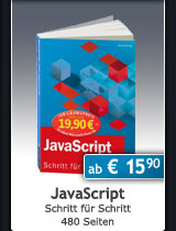 Jubiläumsausgabe: JavaScript, 480 Seiten, ab € 15,90